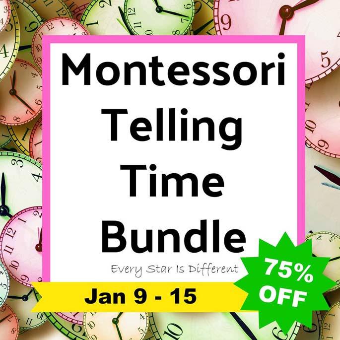 Montessori Telling Time Bundle 75% Off Jan 9-15