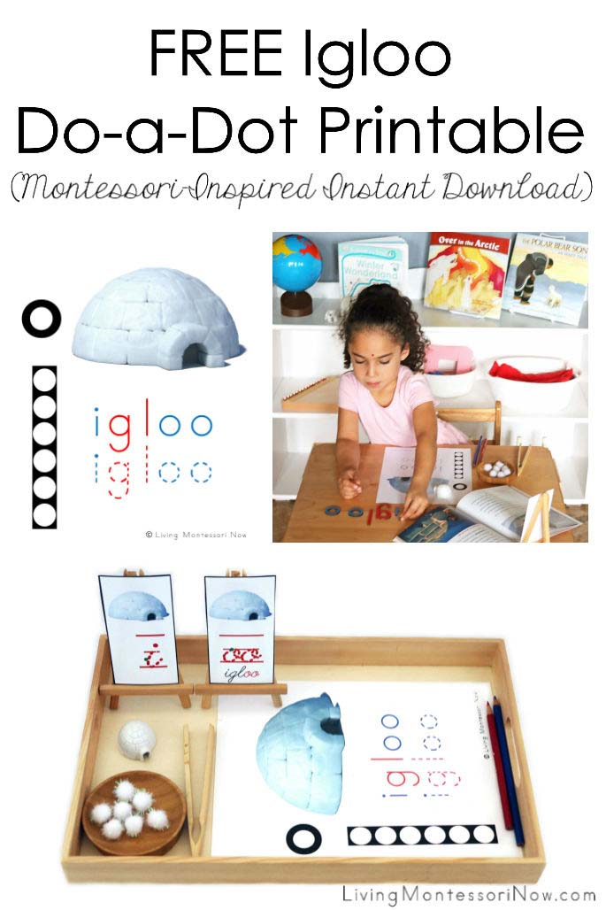 Free Igloo Do-a-Dot Printable (Montessori-Inspired Instant Download)
