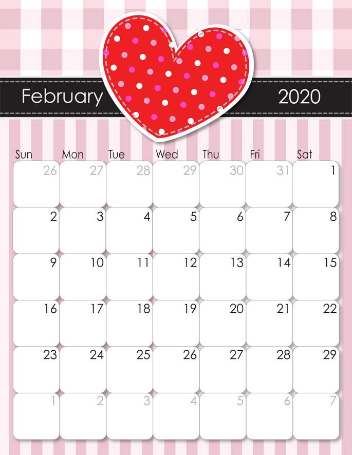 February 2020 Calendar from iMom
