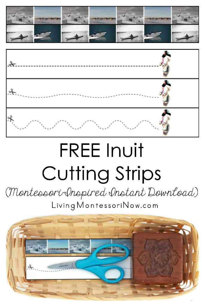 FREE Inuit Cutting Strips (Montessori-Inspired Instant Download)