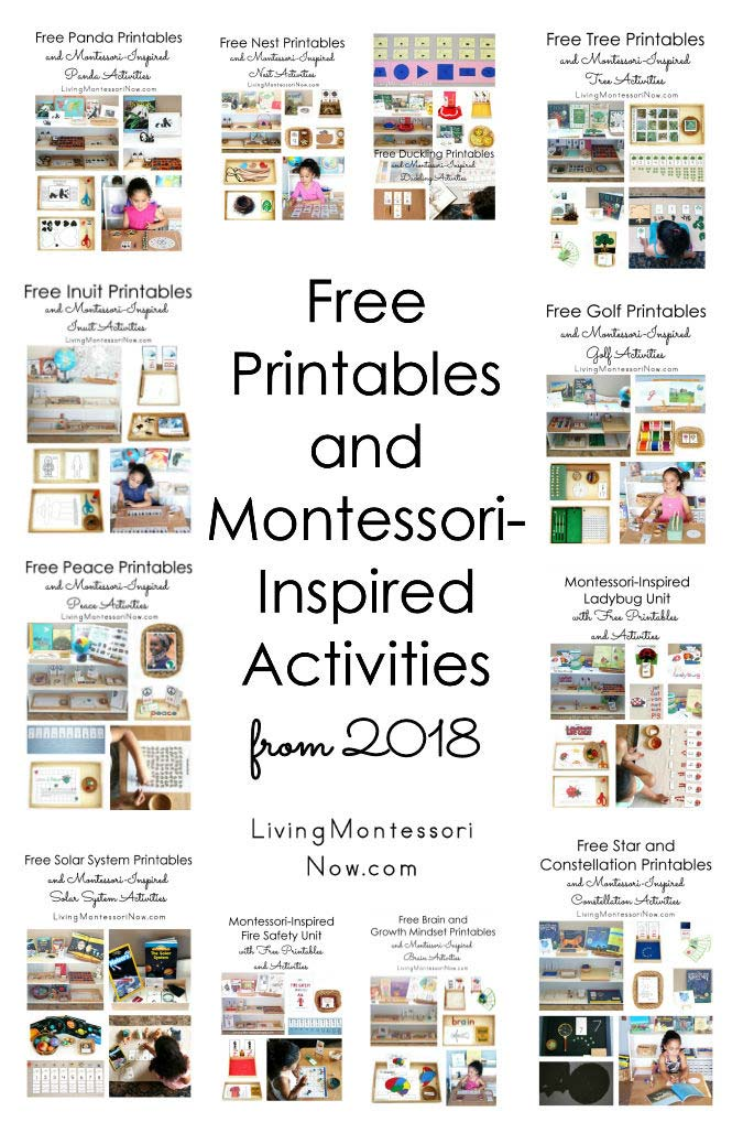 Free Printables and Montessori-Inspired Activities from 2018