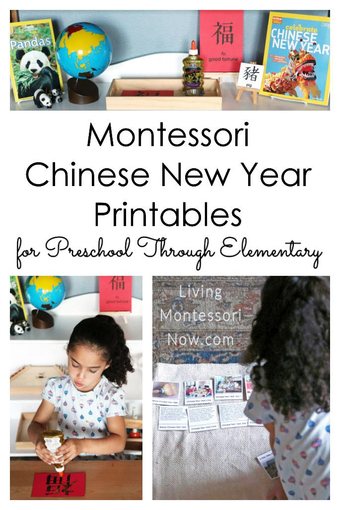Montessori Chinese New Year Printables for Preschool Through Elementary