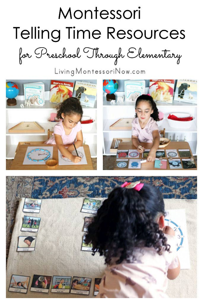 Montessori Telling Time Resources for Preschool Through Elementary