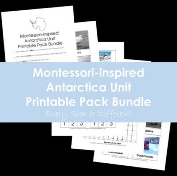Every Star Is Different Montessori-Inspired Antarctica Unit Printable Pack Bundle