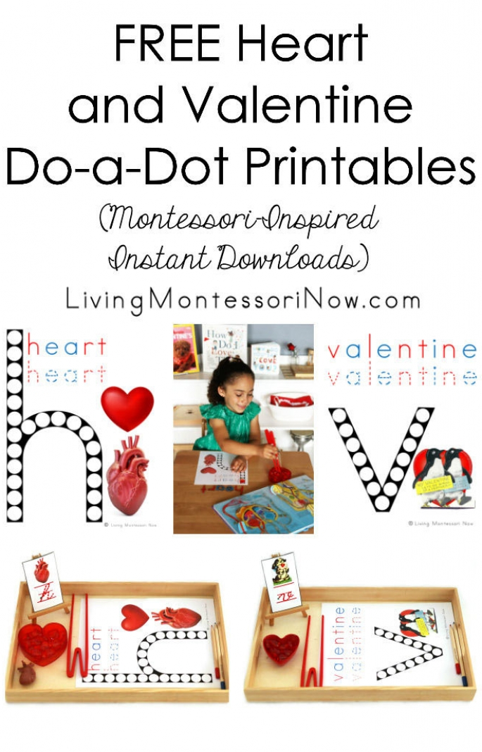 FREE Heart and Valentine Do-a-Dot Printables (Montessori-Inspired Instant Downloads)