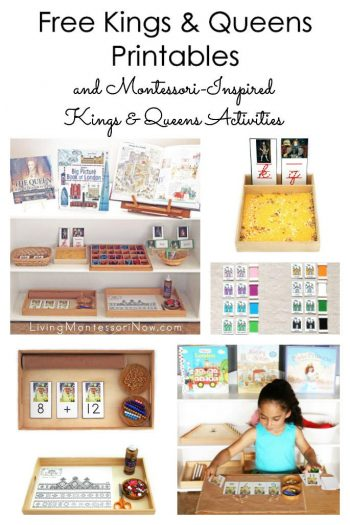 Free Kings and Queens Printables and Montessori-Inspired Kings and Queens Activities