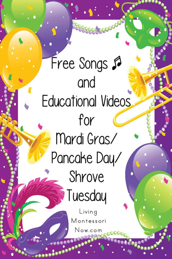 Free Songs and Educational Videos for Mardi Gras/Pancake Day/Shrove Tuesday