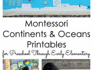 Montessori Continents and Oceans Printables for Preschool Through Early Elementary