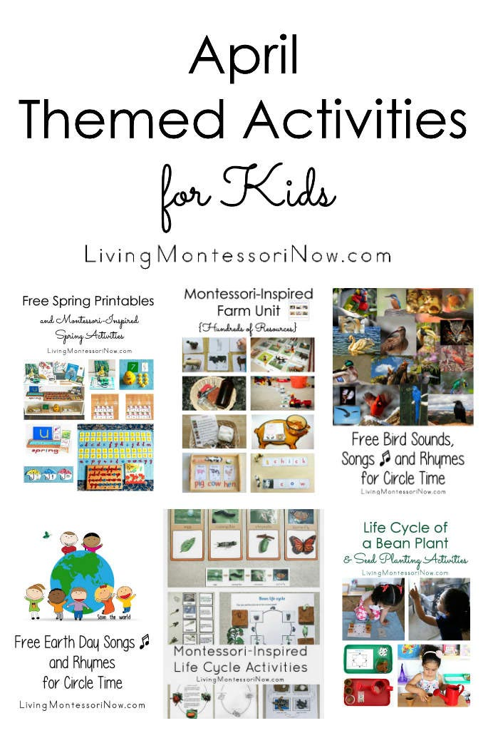 April Themed Activities for Kids
