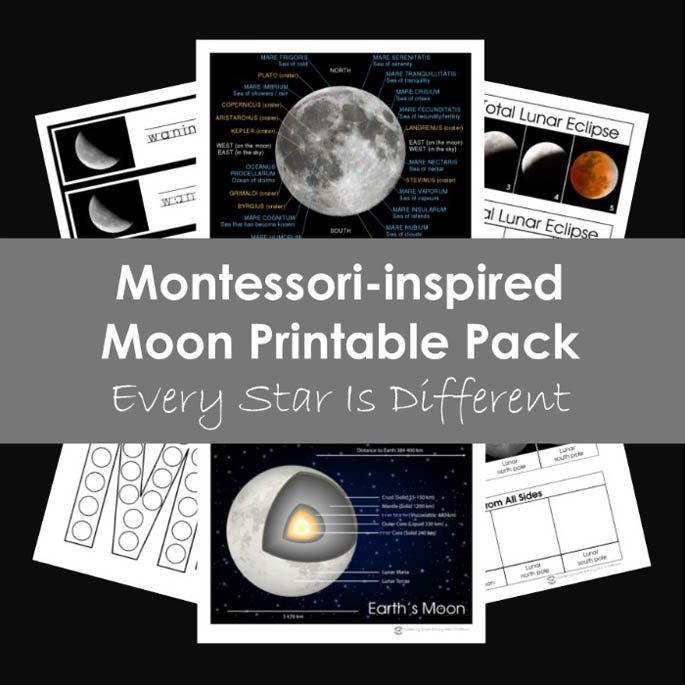 Montessori-Inspired Moon Printable Pack
