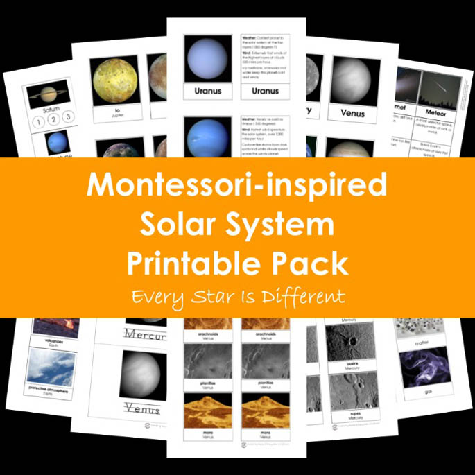 Every Star Is Different Montessori-Inspired Solar System Printable Pack