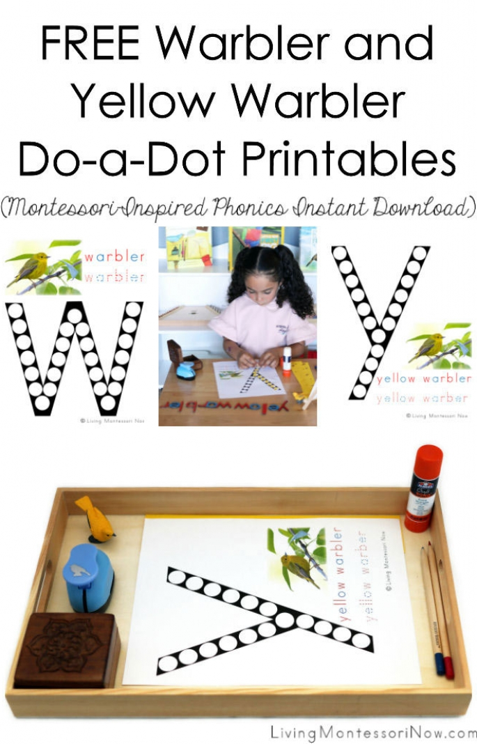 Free Warbler and Yellow Warbler Do-a-Dot Printables (Montessori-Inspired Instant Download)