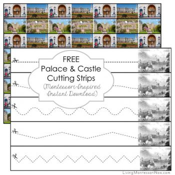 Free Palace and Castle Cutting Strips