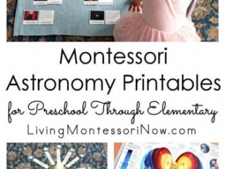 Montessori Astronomy Printables for Preschool Through Elementary