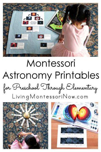 Montessori Astronomy Printables for Preschool Through Elementary