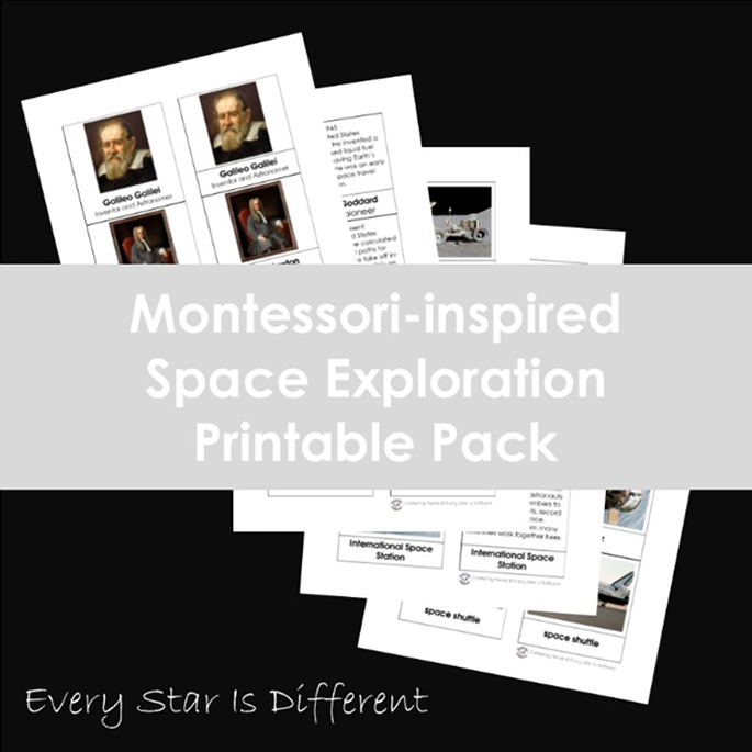 Montessori-Inspired Space Exploration Printable Pack from Every Star Is Different