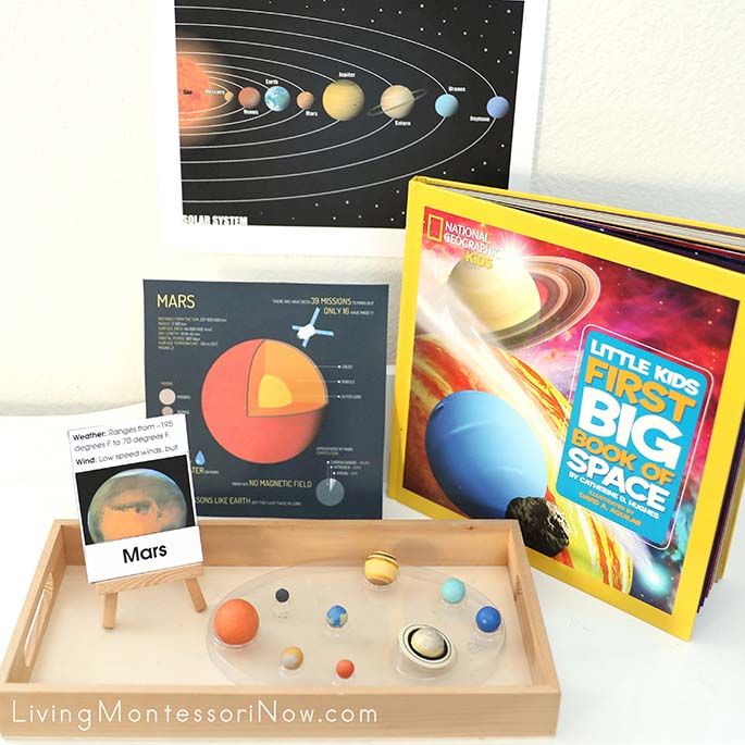 Montessori Solar System Materials, Featuring Mars
