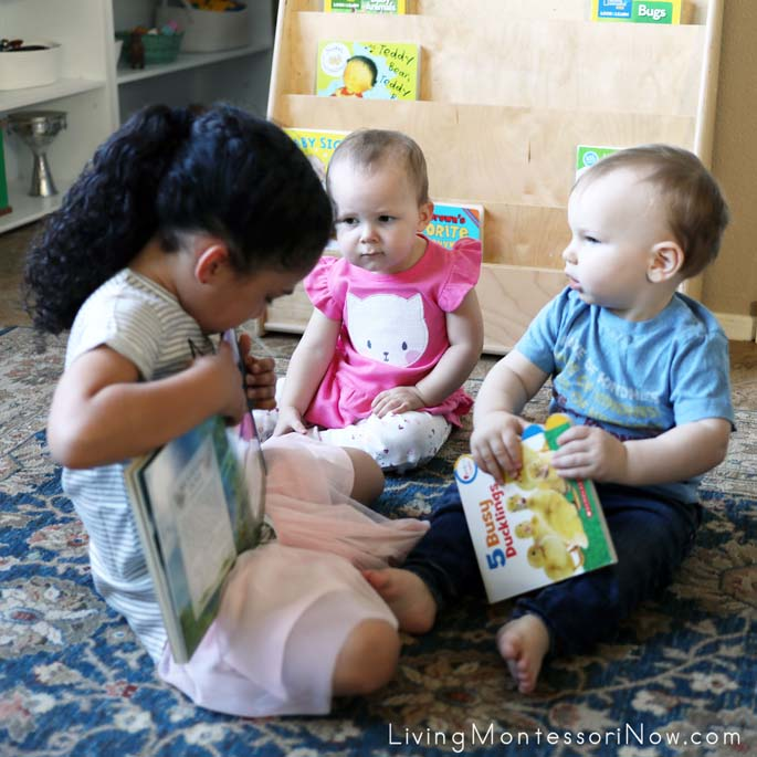 Sharing the Little Book of Backyard Bird Songs with Toddlers