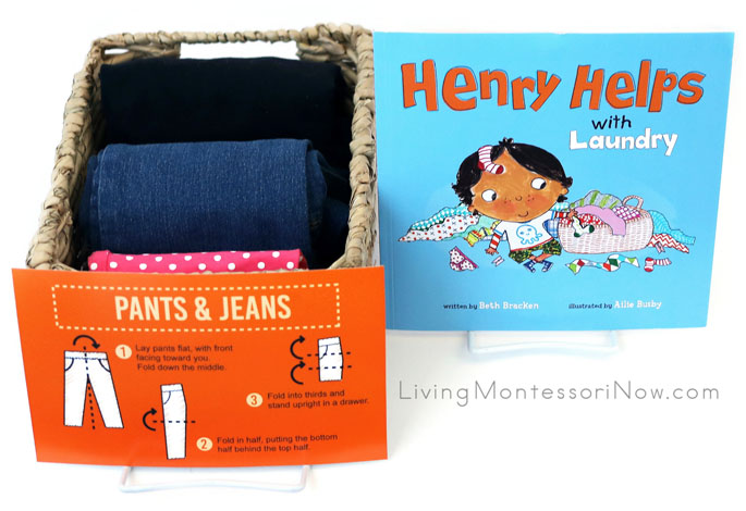 Henry Helps with Laundry Book with KonMari-style Pants and Jeans Folding Activity