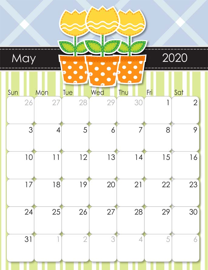 May 2020 Calendar from iMom