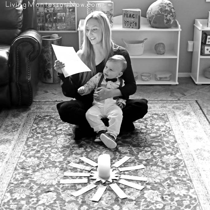 Mommy Reading the Montessori Birthday Script