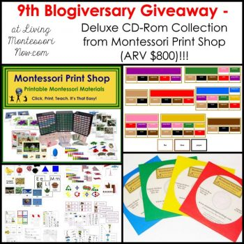 Montessori Print Shop Deluxe CD Rom Collection Giveaway (ARV $800)!!!