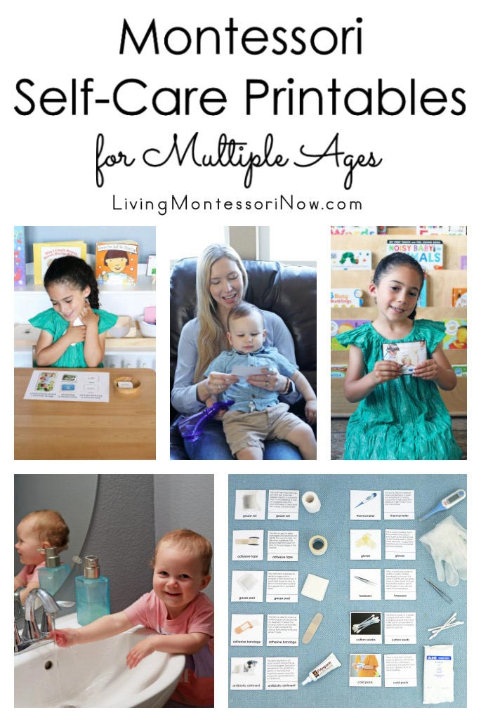 Montessori Self-Care Printables for Multiple Ages