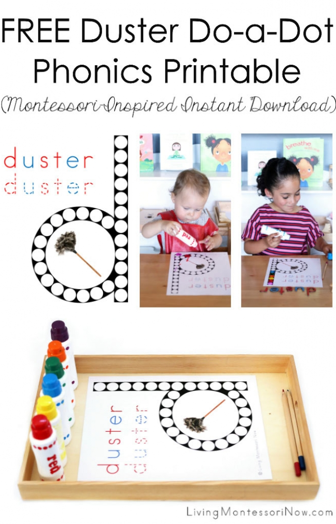 FREE Duster Do-a-Dot Phonics Printable (Montessori-Inspired Instant Download)