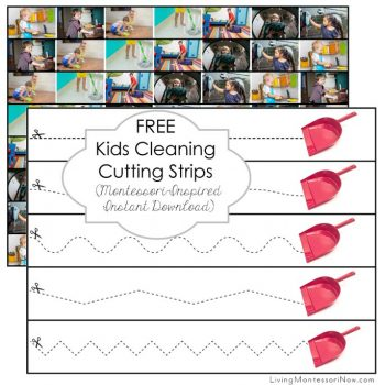 Free Kids Cleaning Cutting Strips