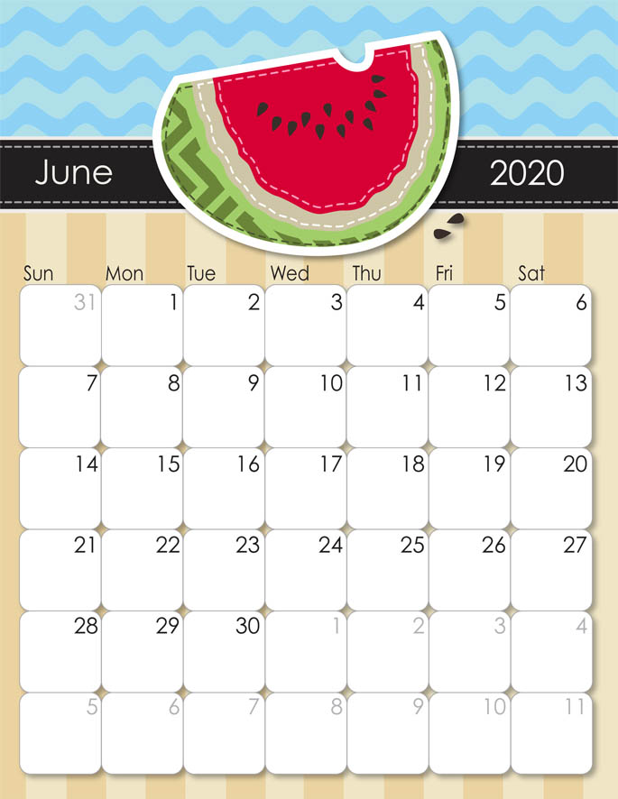 June 2020 Calendar from iMom