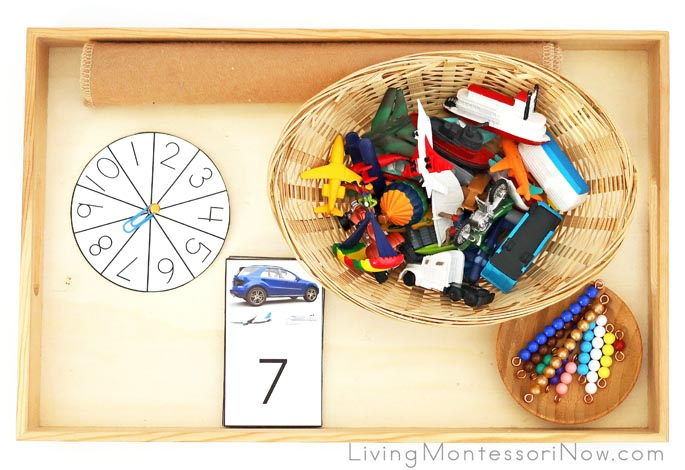 Land, Air, and Water Transportation Addition with Miniature Vehicles and Bead Bars