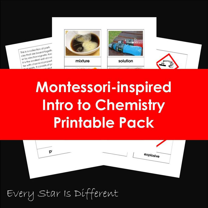 Montessori-Inspired Intro to Chemistry Printable Pack from Every Star Is Different