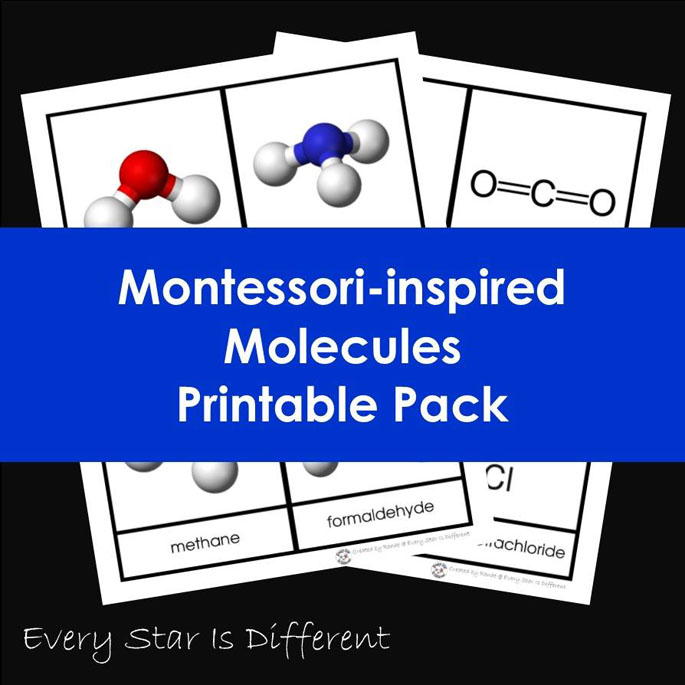Montessori-Inspired Molecules Printable Pack from Every Star Is Different