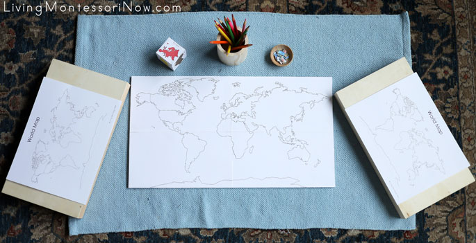 World Travel Game with Dice and Miniature Paper Vehicles