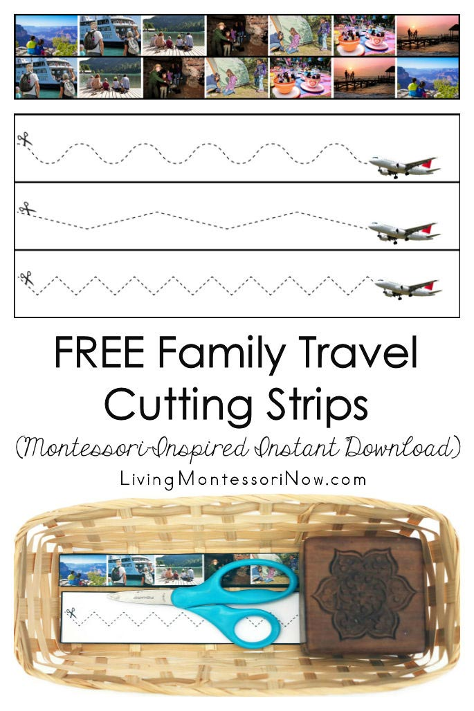 Free Family Travel Cutting Strips (Montessori-Inspired Instant Download)