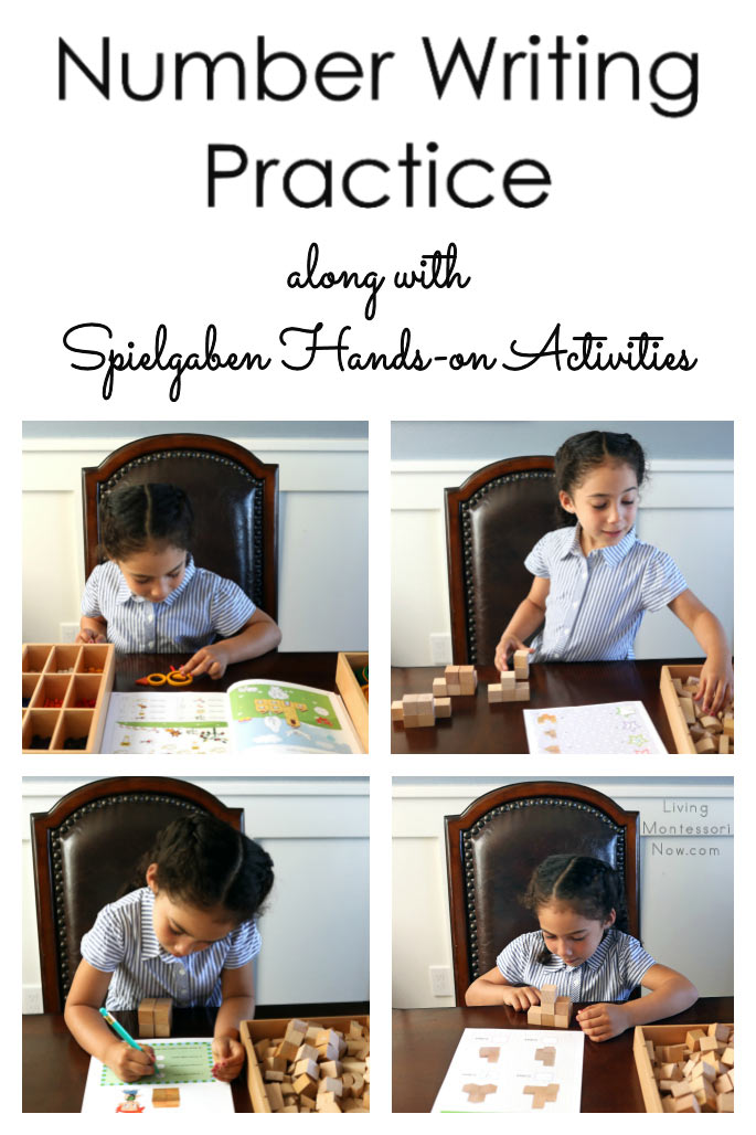Number Writing Practice along with Spielgaben Hands-on Activities