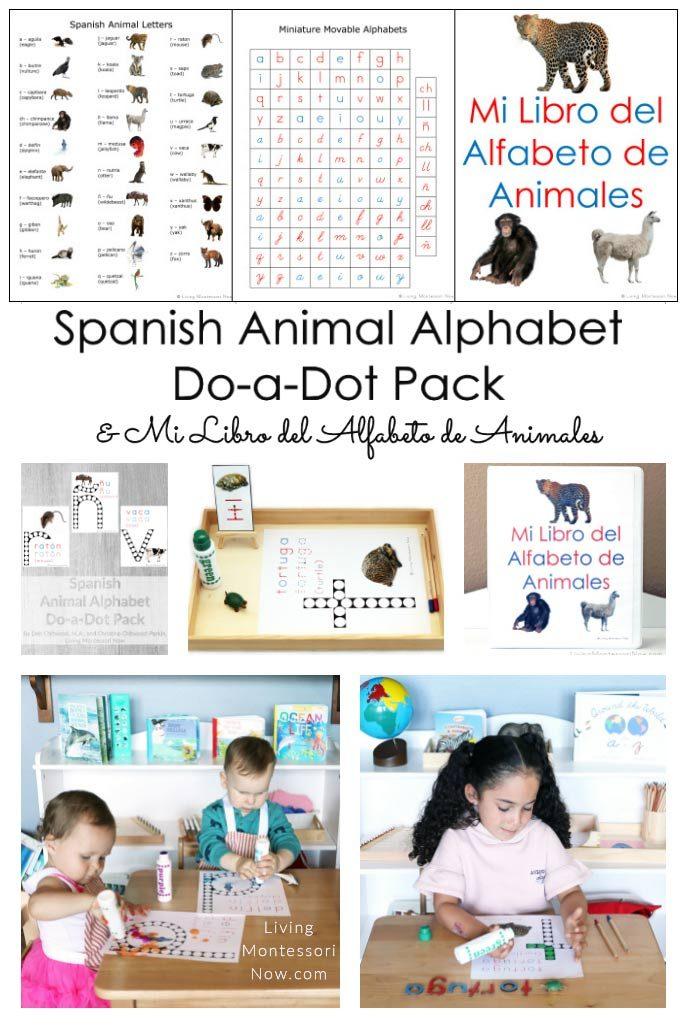 Spanish Animal Alphabet Do-a-Dot Pack and Mi Libro del Alfabeto de Animales
