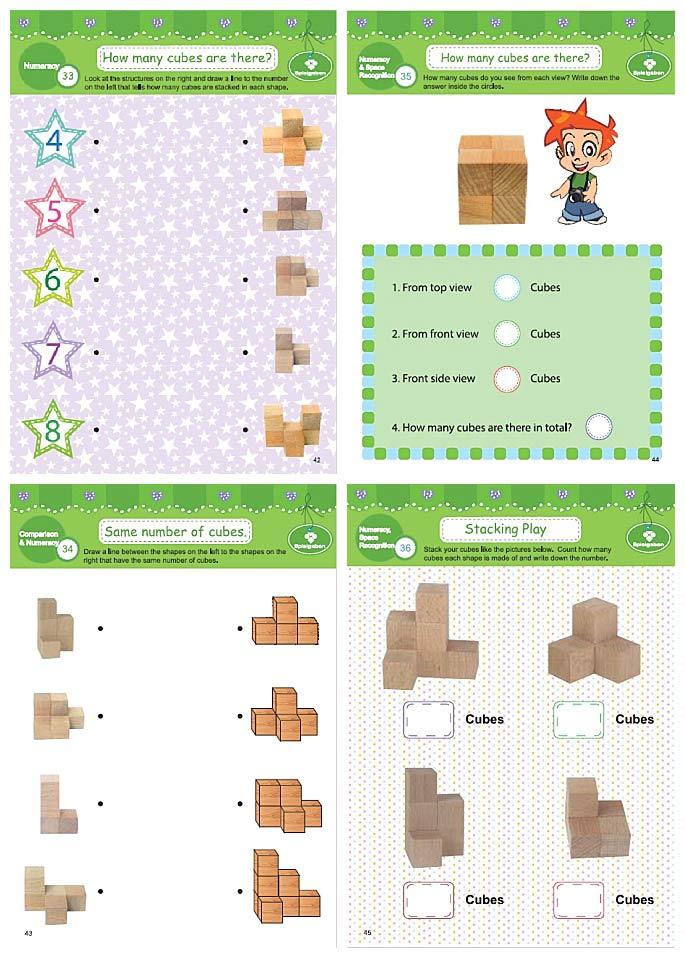 Spielgaben Workbook Year K, pages 42-45