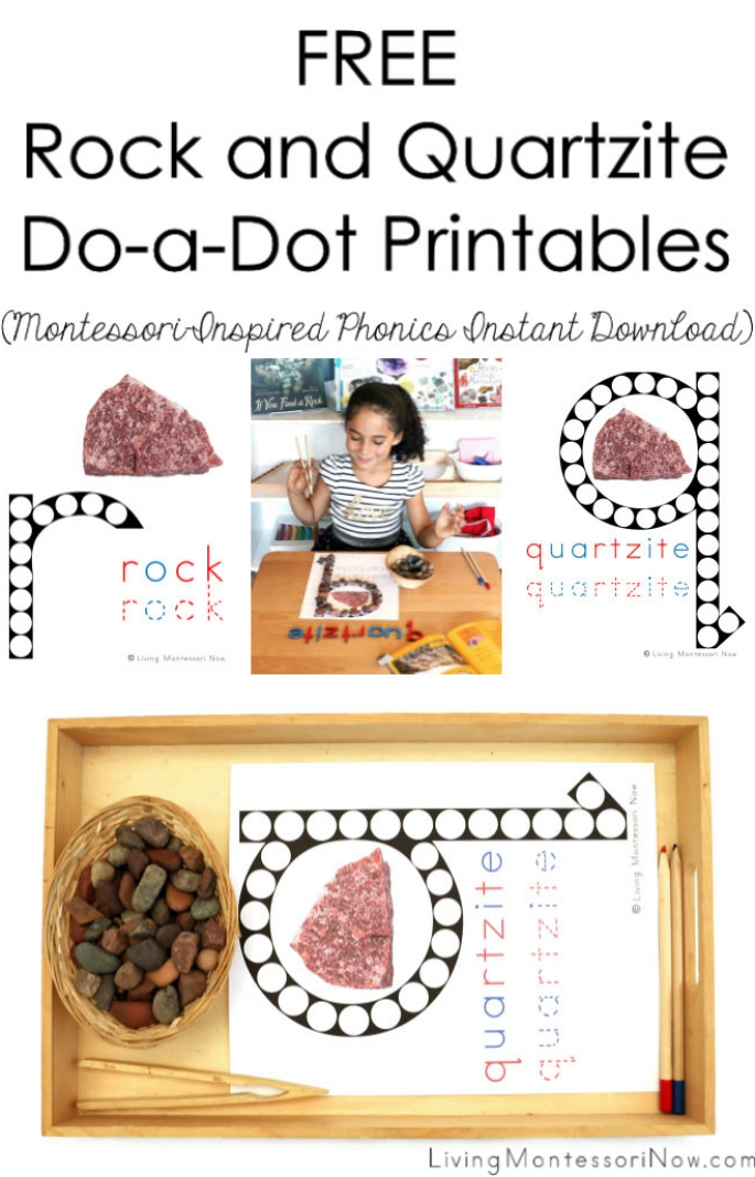 FREE Rock and Quartzite Do-a-Dot Phonics Printble (Montessori-Inspired Instant Download)
