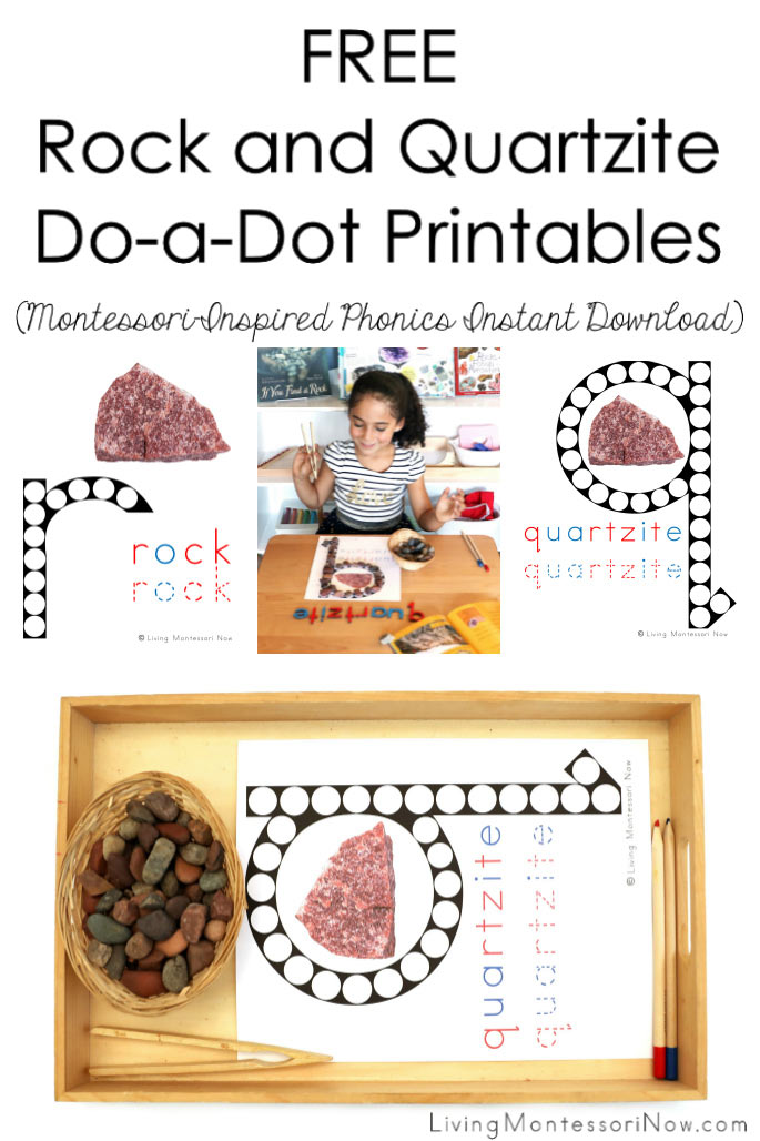 Free Rock and Quartzite Do-a-Dot Phonics Printables (Montessori-Inspired Instant Download)