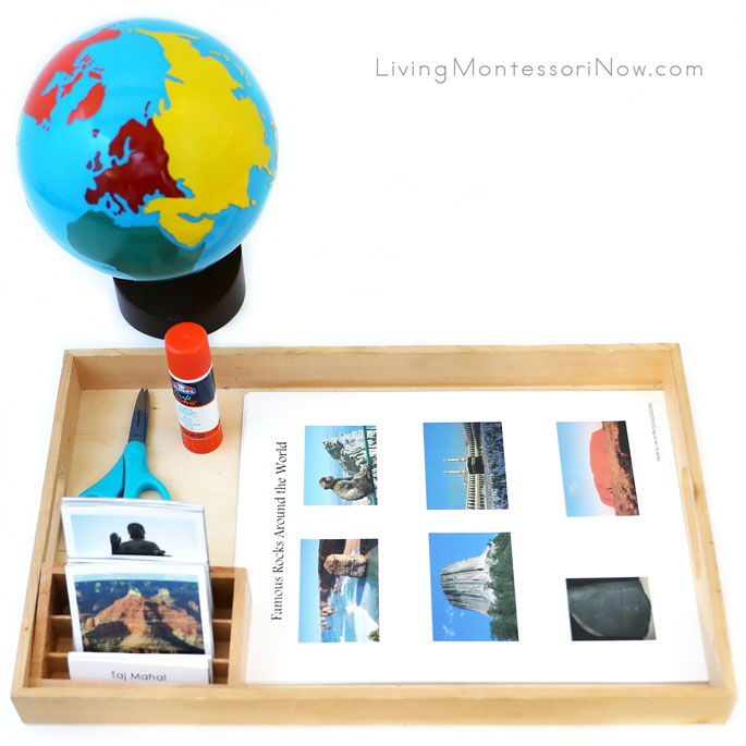 Famous Rocks Around the World 3-Part Cards with Cut-and-Paste Activities