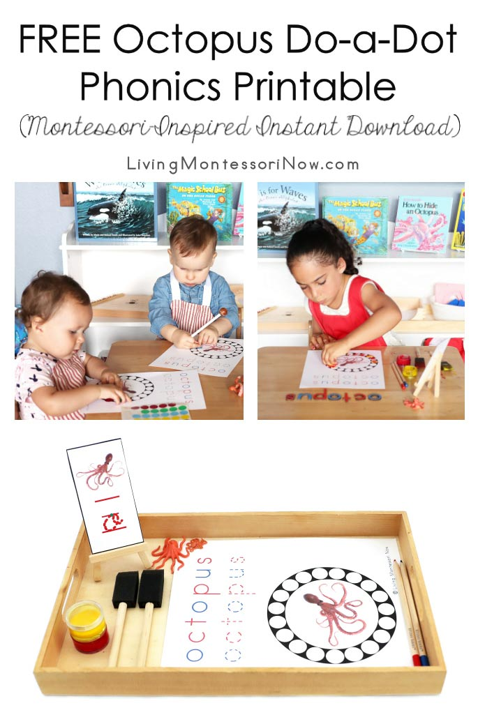 FREE Octopus Do-a-Dot Phonics Printable (Montessori-Inspired Instant Download)