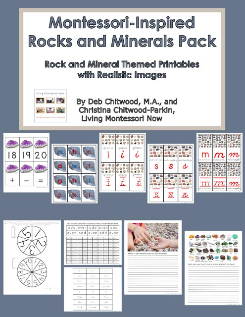 Montessori-Inspired Rocks and Minerals Pack