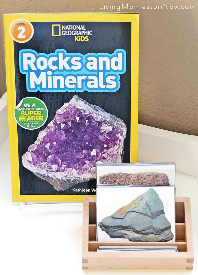 National Geographic Kids Rocks and Minerals Book with Rocks and Minerals 3-Part Cards