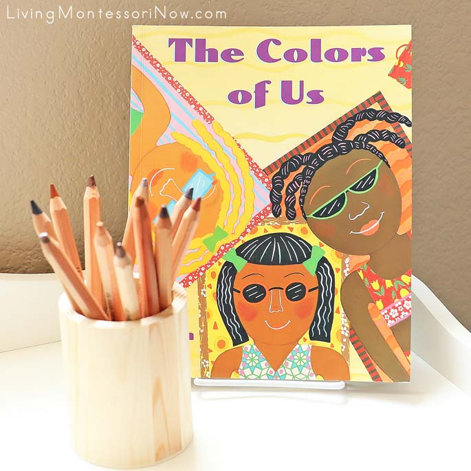 The Colors of Us Book with Skin-Tone Colored Pencils