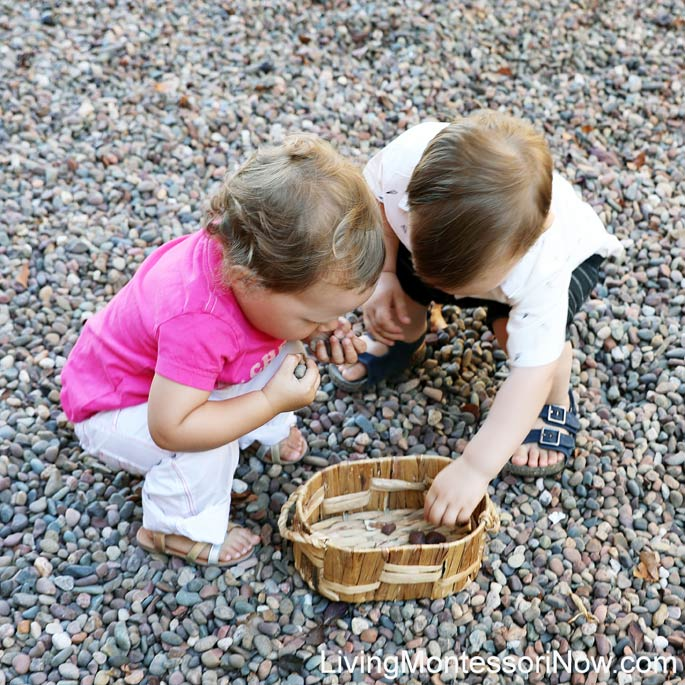Toddler Rock Picking (with lots of adult supervision, of course)