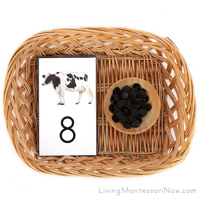 DIY Holstein Cow and Black Button Cards and Counters