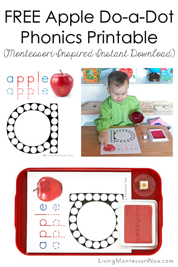 FREE Apple Do-a-Dot Phonics Printable (Montessori-Inspired Instant Download)