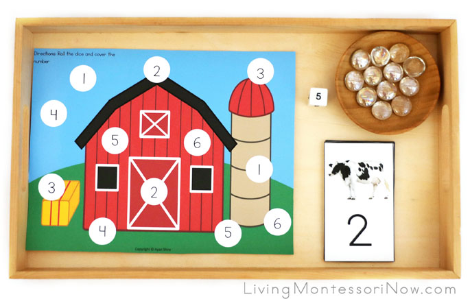 Farm Number Matching or Addition and Subtraction Game