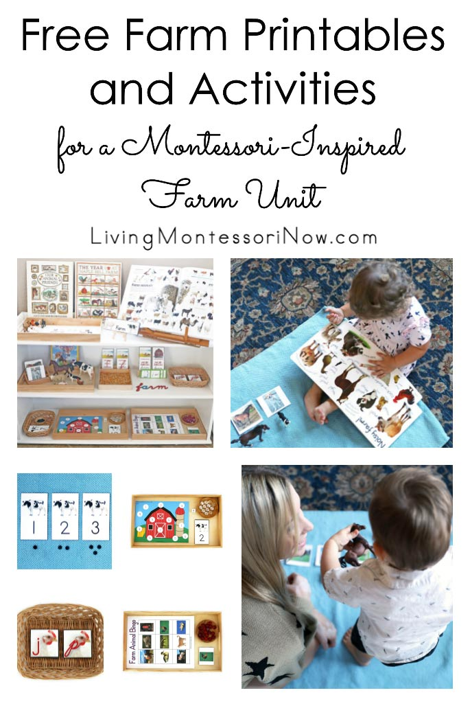 Free Farm Printables and Activities for a Montessori-Inspired Farm Unit